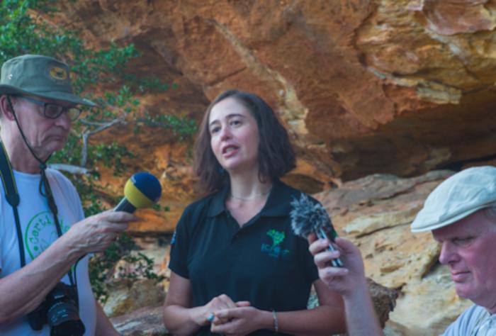 Luciana Nars concede entrevista para jornalistas da Alemanha  (Crédito:  André Pessoa)