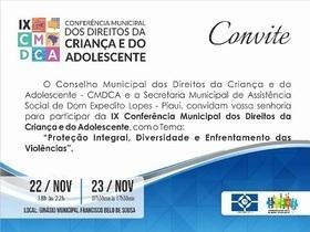 Del - IX Conferencia Mun. dos Direitos da Criança e do Adolecente