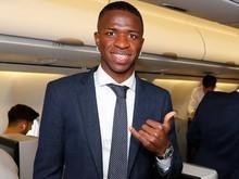 Bola da vez do Real, Vinicius viaja e pode estrear na Champions
