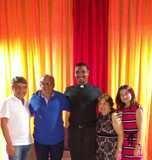 Prefeito João Luiz recebe padre Walfran em jantar de boas vindas