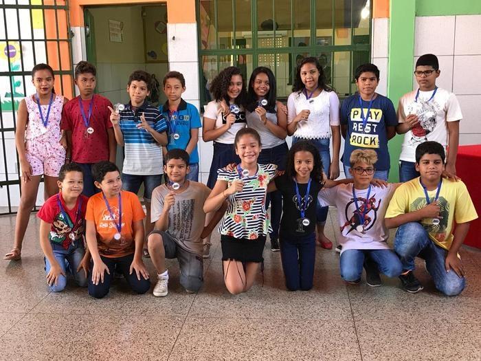 Alunos campeões da Escola Casa Meio Norte (Crédito: Divulgação)