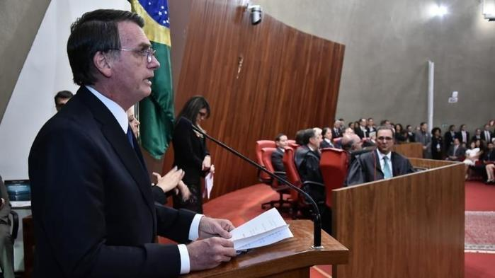 Presidente eleito, Jair Bolsonaro (PSL), discursa após ser diplomado no TSE  (Crédito: Divulgação)