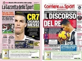 """CR7 chama Messi para jogar na Itália: """"Como eu, aceite o desafio"""""""