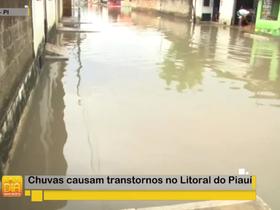 Chuvas causam transtornos no litoral do Piauí