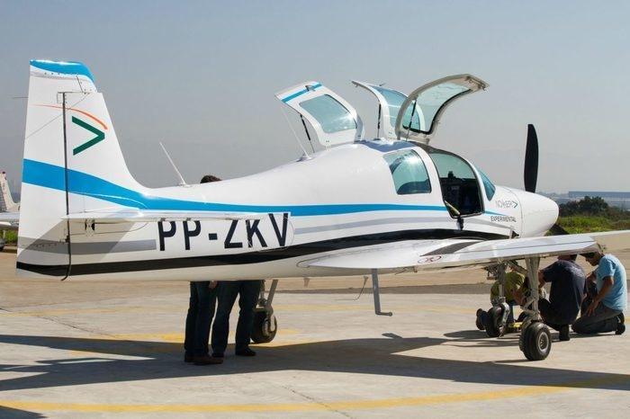 Avião da Novaer para ser utilizado em treinamento militar (Crédito: Divulgação)