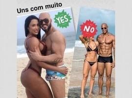 Gracyanne ri com comparação de Belo e Léo Santana de sunga