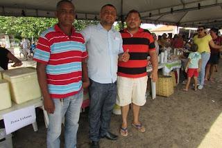Com os colegas vereadores na I Feira da Agricultura Familiar