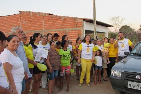 Apoio e participação nas caminhadas do CRAS, Conselho Tutelar dentre outras.