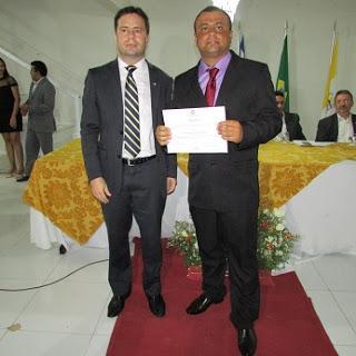 Diplomado pelo juiz Leonardo Brasileiro