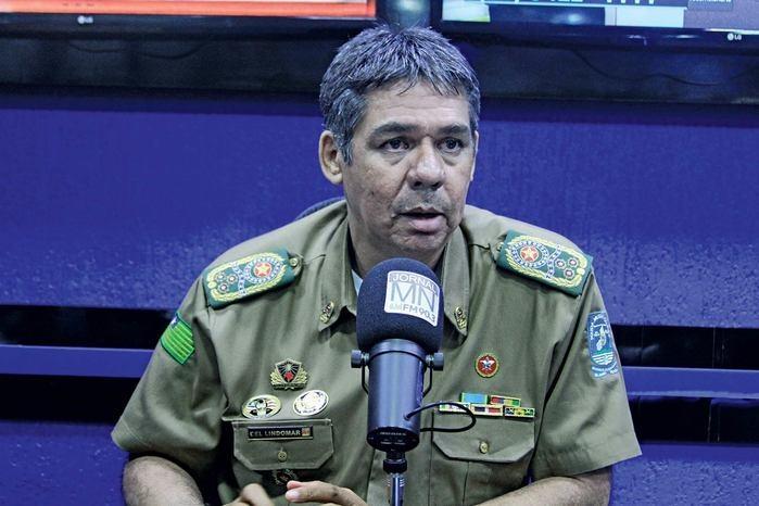 Comandante da PM,  Lindomar Castilho (Crédito: Raíssa Morais)