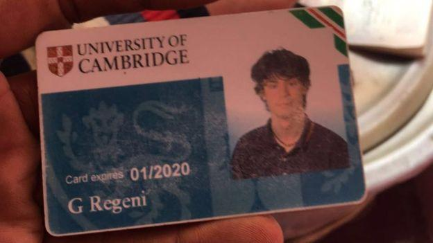 Giulio Regeni era aluno de doutorado da Universidade de Cambridge  (Crédito: Epa)