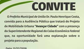 Prefeitura realizará audiência pública sobre o Avançar Cidades