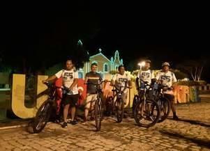Passeio Ciclístico pelas ruas de Monsenhor Gil, um ato sádio