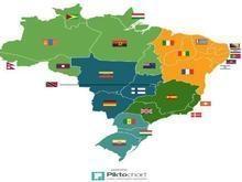 Mapa compara extensão de estados brasileiros a outros países