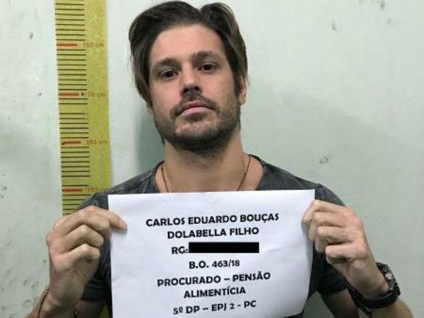 Dado Dollabela está preso há uma semana por não pagar pensão