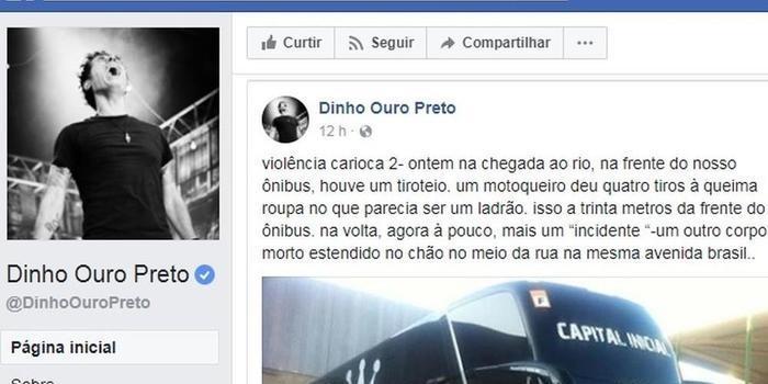 Ônibus da banda Capital Inicial sofre tentativa de assaltado no Rio