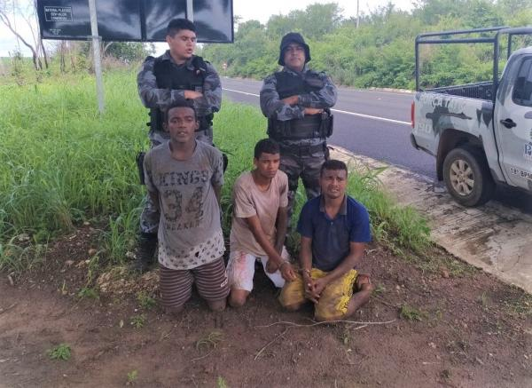 Detentos foram recapturados na zona rural de São Pedro do PI (Crédito: Reprodução )