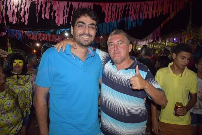 Vice-Prefeito de Bacabal Florêncio Neto e Nenzão (Crédito: Wagner Medeiros)