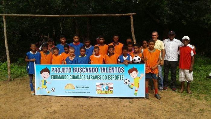 Escolinha de Futebol do Paiol do Rio (Crédito: Secretaria de Esportes)