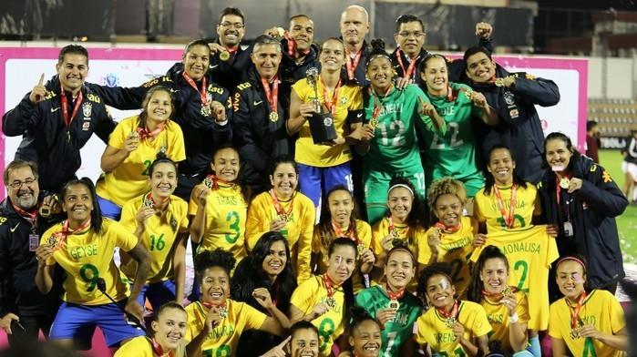Seleção brasileira feminina sub-20 (Crédito: CBF)