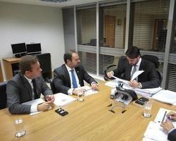 Prefeito Junior Bill solicita recursos ao Ministro Baldy para const