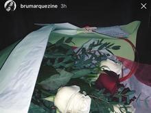 Marquezine chega a Paris e é recebida com buquê de Neymar