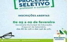 Abertas inscrições para o seletivo em Bom Jesus, no Sul do Piauí