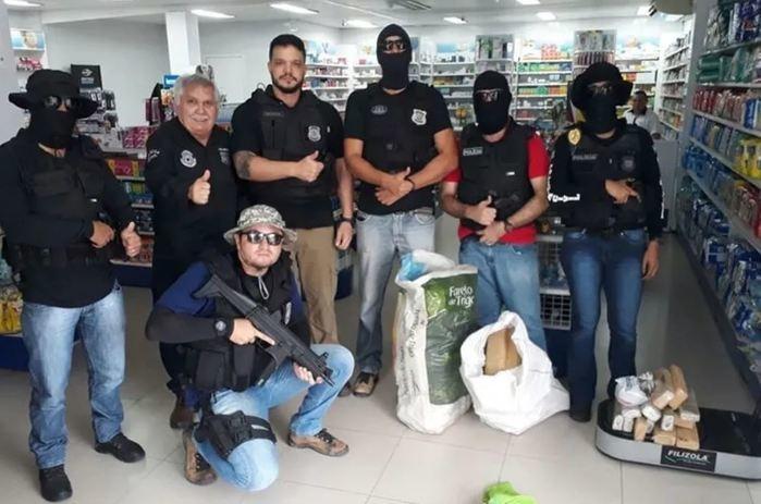 Equipe da Depre desarticula ponto de venda de drogas (Crédito: Divulgação/Polícia Civil)