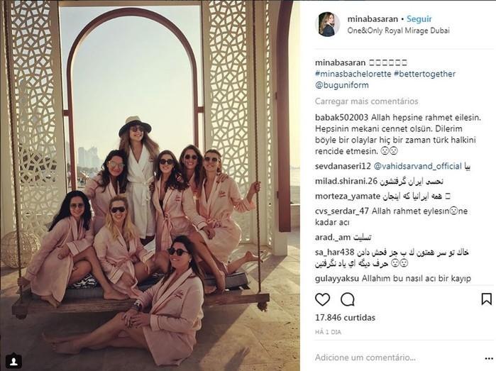 Mina Basaran e as amigas em hotel luxuoso antes da tragédia
