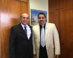 Antonio Neto esteve presente no gabinete do Deputado Marcelo Castro