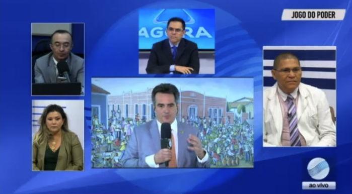 Senador Ciro Nogueira participou do Jogo do Poder direto de Brasília  (Crédito: Reprodução )