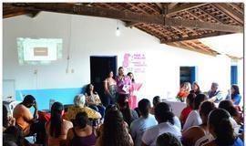 Encontro com mulheres na comunidade Roque