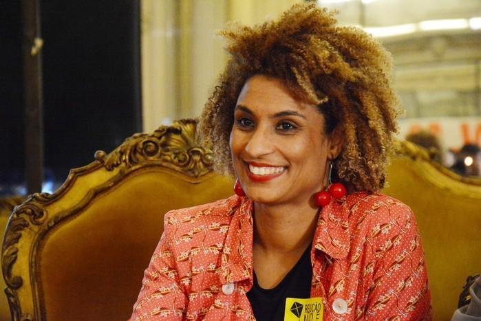 Marielle Franco, vereadora do PSOL, em foto de outubro de 2017 em debate na Câmara (Crédito: Câmara de Vereadores do Rio)