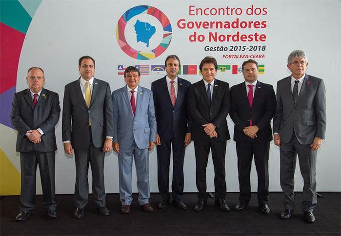 Governadores do Nordeste em encontro no Ceará, em 2017 (Crédito: Reprodução )