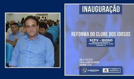 Prefeito Diego Teixeira vai entregar um novo Clube dos Idosos