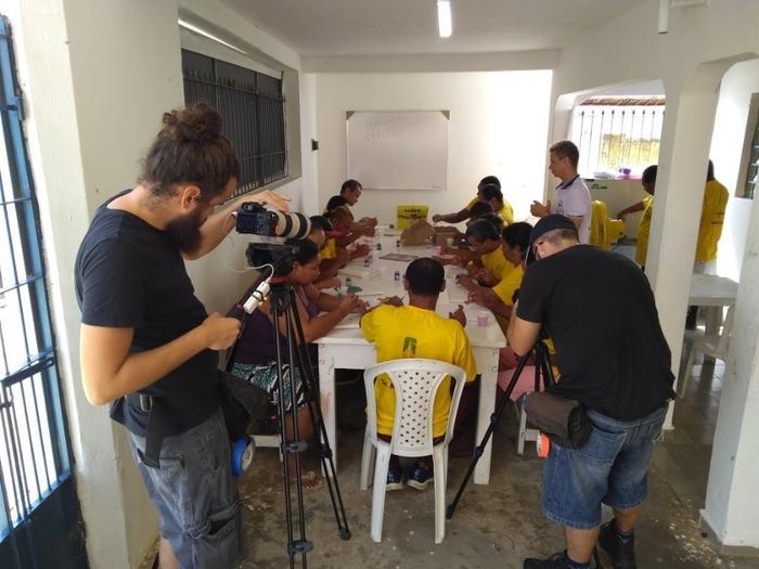 Equipe de Brasília gravou durante três dias no município (Crédito: Adriano Sousa)