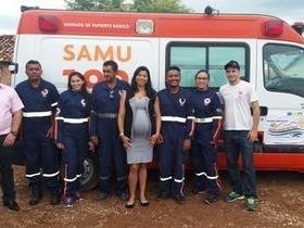 Prefeito de Santo Inácio reabre base do SAMU no município