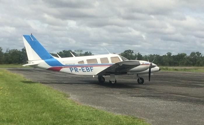 Avião com 500 quilos de cocaína é interceptado no MT; piloto fugiu