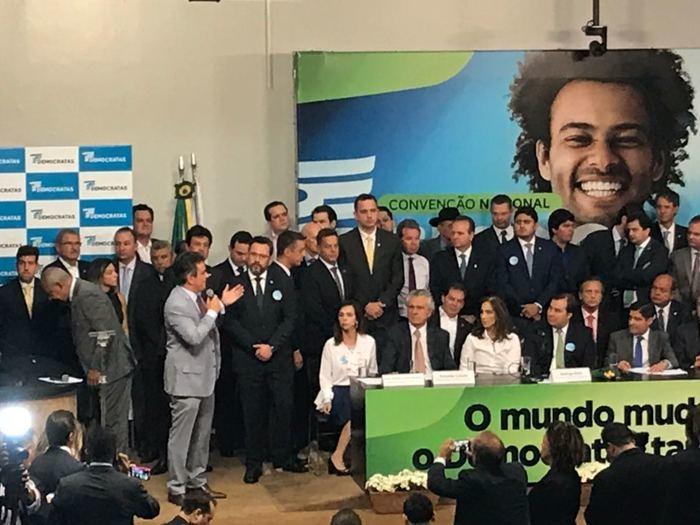 Cerimônia de candidatura de Rodrigo Maia  (Crédito: Samantha Cavalca)