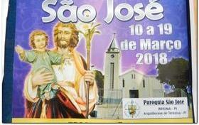 Participe do festejo de São José-10 a 19 de março