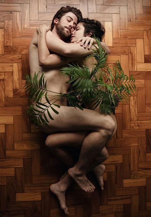 Pedro Nercessian e namorada fazem ensaio nu
