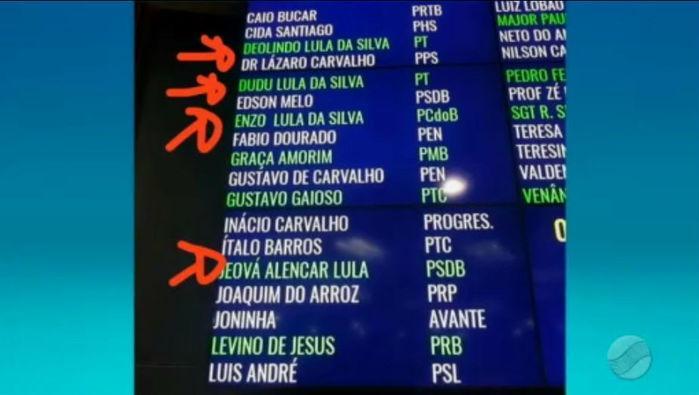 Movimento a favor do ex-presidente Lula (Crédito: Rede Meio Norte)