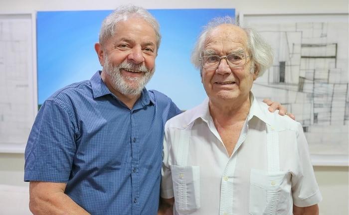 Lula e Nobel da Paz Adolfo Pérez