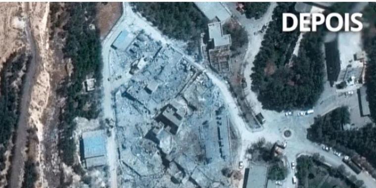 Fotos mostram efeito de bombas em centro sírio após ataque dos EUA