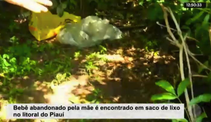 Recém-nascido achado morto em lixão no Maranhão (Crédito: Rede Meio Norte)