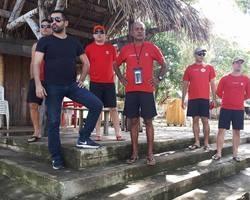 Bombeiros garantiram segurança aos banhistas na cachoeira do urubu