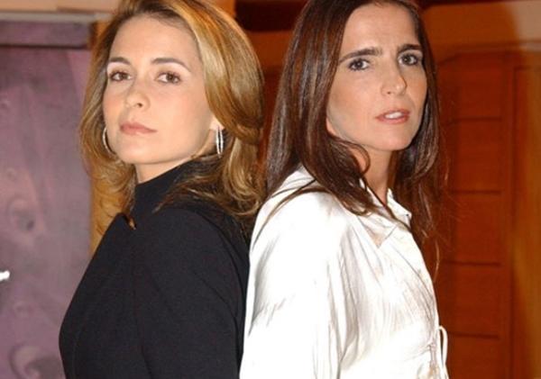 Malu Mader e Claudia Abreu: inimigas em Celebridade