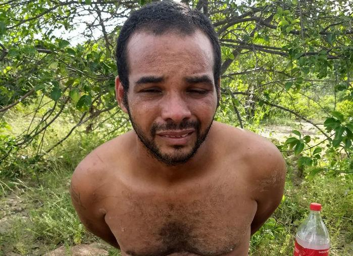 Joaby Maciel Albuquerque foi capturado na cidade de Buriti dos Montes (Crédito: Polícia Militar)