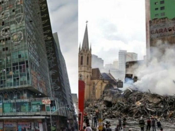 Após prédio cair em SP, mais de 240 pessoas vão para abrigo