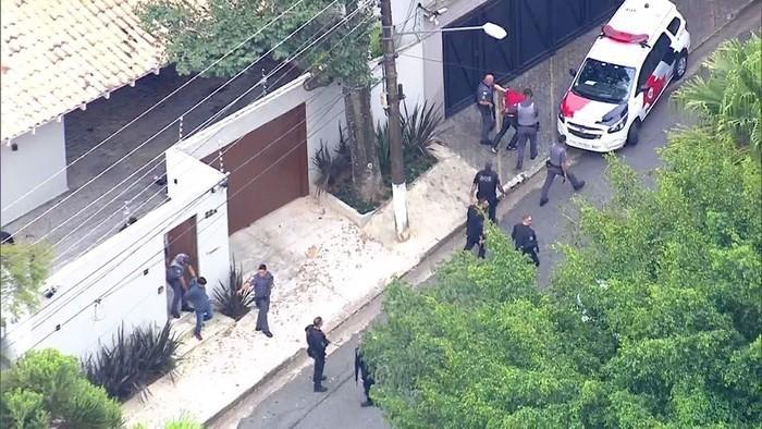 Casa do delegado da Polícia Federal morto por bandidos (Crédito: Reprodução/TV Globo))